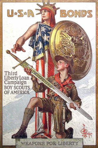 War Bond (Lady Liberty) poster by J.C. Leyedecker, 1918